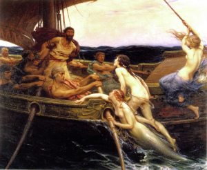 """Ulysses and the Sirens (1909)"" di Herbert James Draper - Ignoto. Con licenza Pubblico dominio tramite Wikimedia Commons."