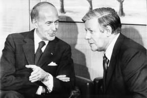 Helmut Schmidt e Valéry Giscard d'Estaing