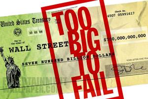 """Dettaglio della locandina del film per la TV """"Too big to fail"""" (2011, regia di C. Hanson, basato sul libro omonimo di Andrew Ross Sorkin)"""