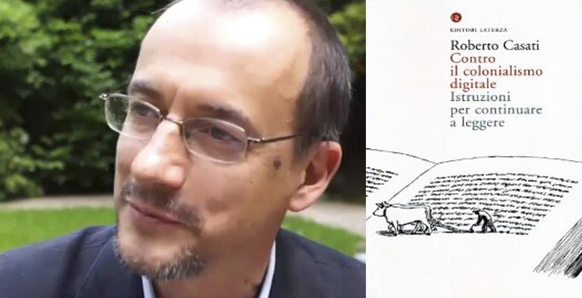 Roberto Casati e la copertina del suo libro