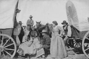 Grandi spazi per le carovane di pionieri verso il West