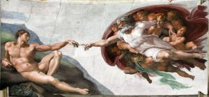 """""""God2-Sistine Chapel"""" di Michelangelo Buonarroti - Opera propria, Titimaster (talk), photography: 11/06/2011. Con licenza Pubblico dominio tramite Wikimedia Commons."""