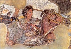 """""""BattleofIssus333BC-mosaic-detail1"""" di Ruthven (Discussione· contributi) - Opera propria. Con licenza Pubblico dominio tramite Wikimedia Commons."""