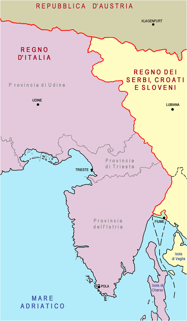 La Venezia Giulia nel 1920