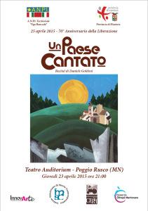 Un paese Cantato, recital, produzione musicale di Daniele Goldoni, testi di Giovanni Perrino