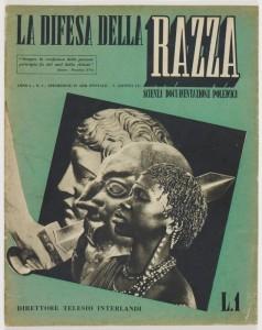 Copertina di «La difesa della razza», a. I, n. 1, 5 agosto 1938