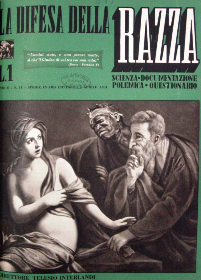 Copertina di «La difesa della razza», a. II, n. 11, 5 aprile 1938