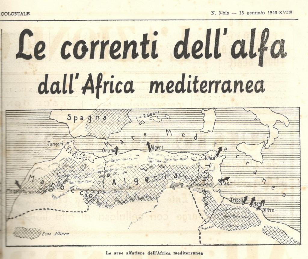 da «L'Azione Coloniale»,Numero Speciale Autarchico Fuori Serie, Giovedì 18 Gennaio 1940, Anno X numero 3 bis, p.2