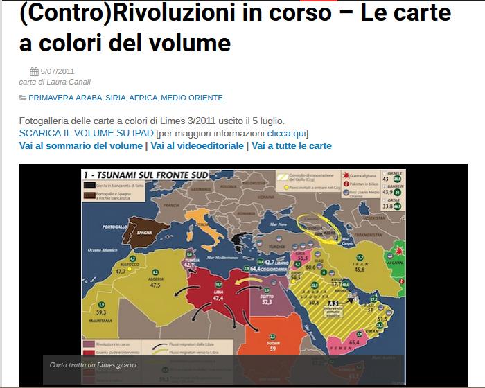 La mappa delle rivolte Arabe http://temi.repubblica.it/limes/controrivoluzioni-in-corso-le-carte-a-colori-del-volume/25150?photo=1