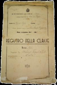 """Archivio del I Circolo didattico di Ruvo di Puglia, Registri scolastici, Registro della classe mista in località """"Capoposta"""", 1949."""