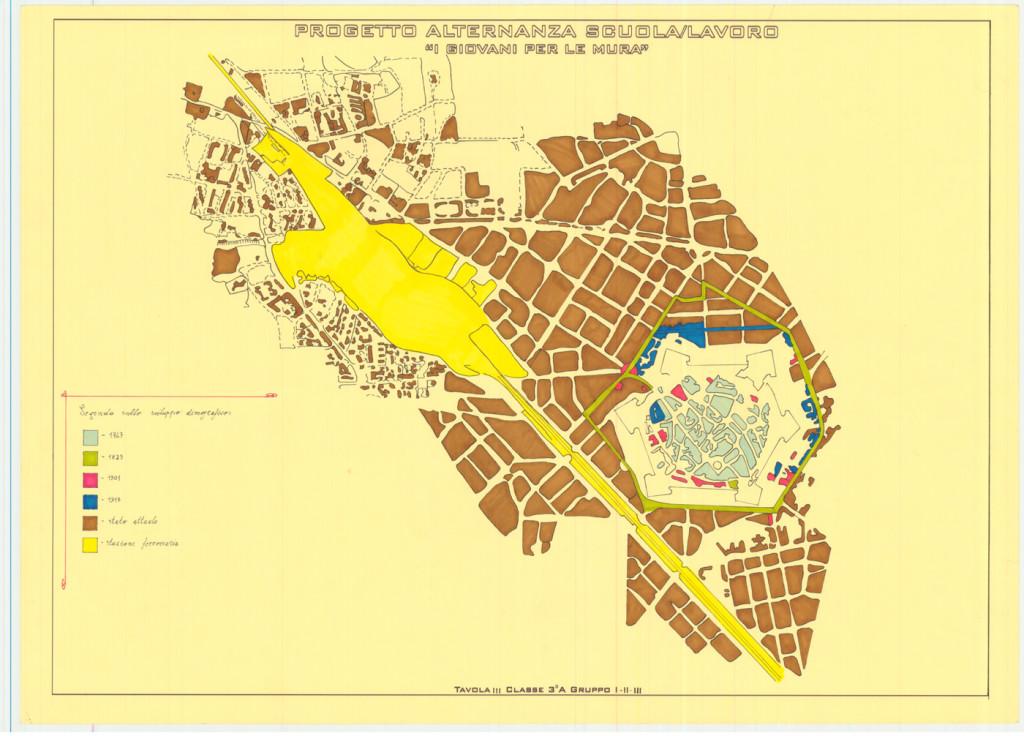 Studio sull'evoluzione urbanistica di Grosseto, Classe III A anno scolastico 2013/2014