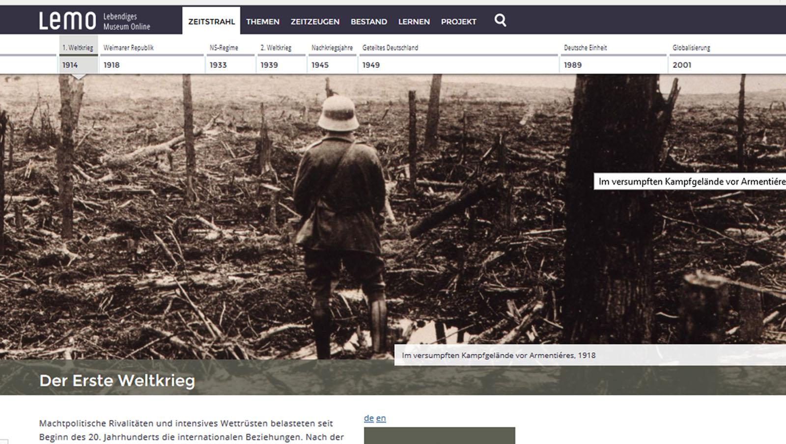 """La """"Grande Guerra"""": musei e mostre sul Web"""