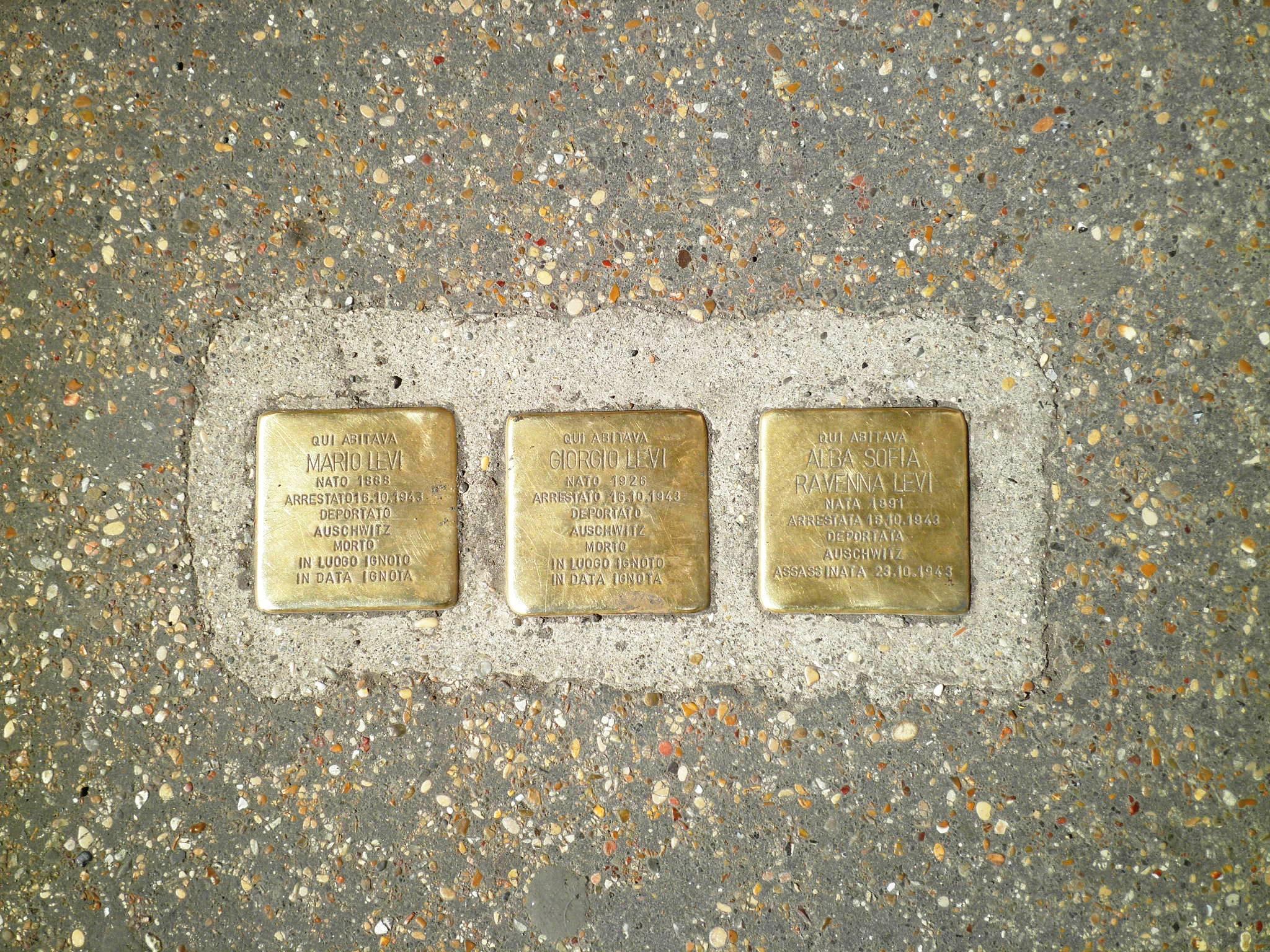 Pietre d'inciampo in Italia: introduzione