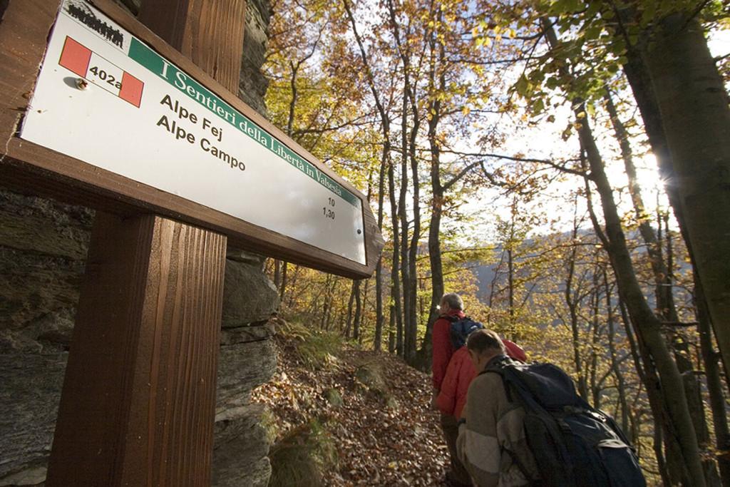 Sentiero partigiano dell'Alpe Fej di Rossa (Al). Uno dei sentieri della Libertà scelto come esempio