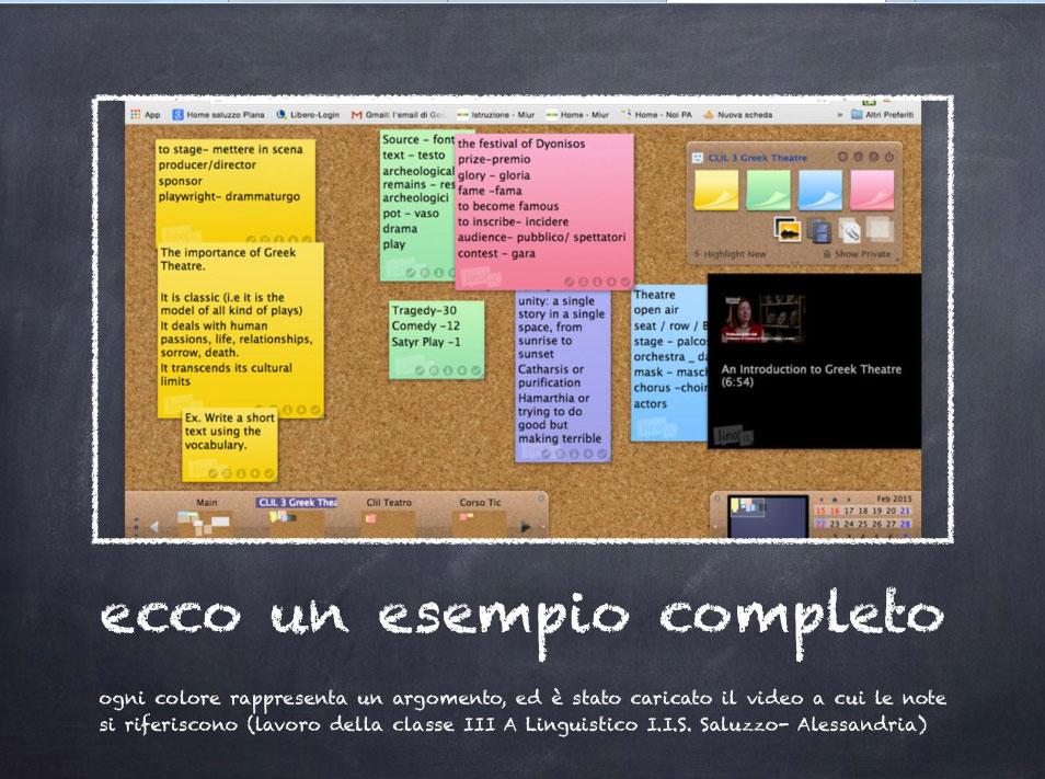 Una slide della presentazione di Linoit