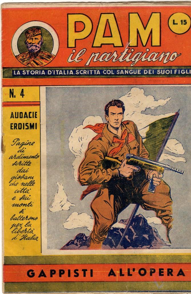 Fig. 11: Copertina del numero 4 di «PAM il partigiano»