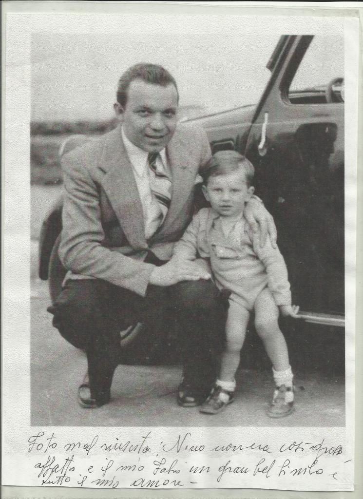 Fig. 2: Giovanni Camusso con il figlio