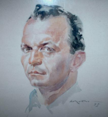 Fig. 3: Ritratto di Giovanni Camusso: acquerello dell'amico Walter Molino