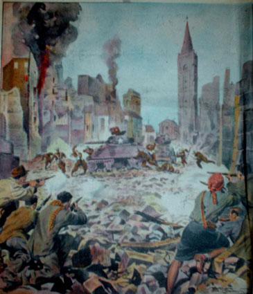Fig. 4: Disegno esecutivo copertina Illustrazione del Popolo anno 1944