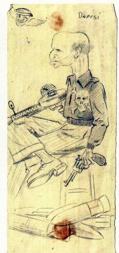 Fig. 5: Caricatura di Paolo Danesi della Caproni