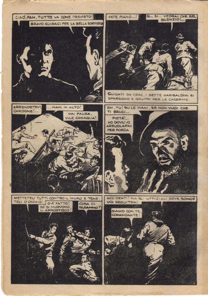 Fig. 6: Scene notturne da Smacco alla S. Marco in «PAM il partigiano» numero 2