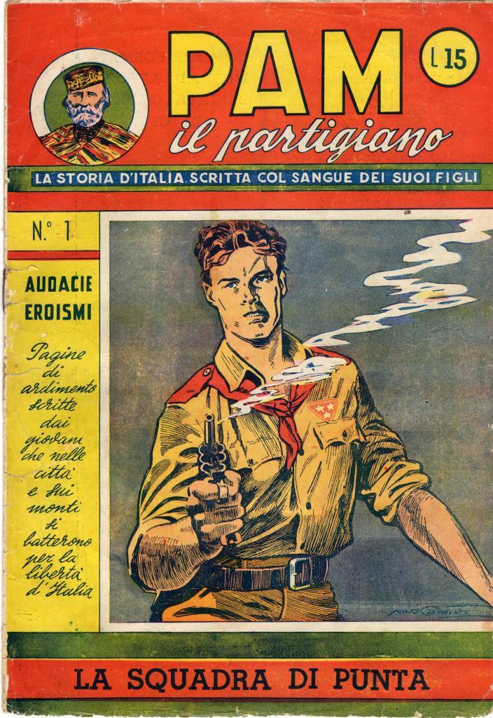 Fig. 7: Copertina del numero 1 di «PAM il partigiano»