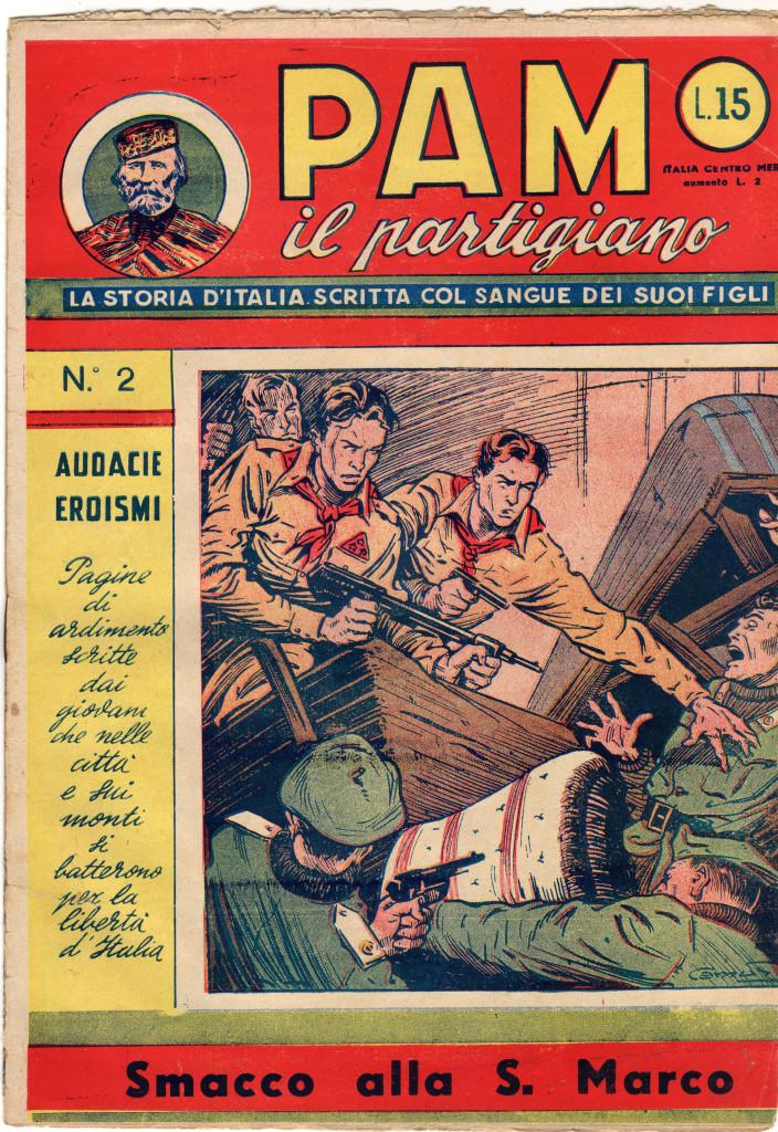 Fig. 8: Copertina del numero 2 di «PAM il partigiano»