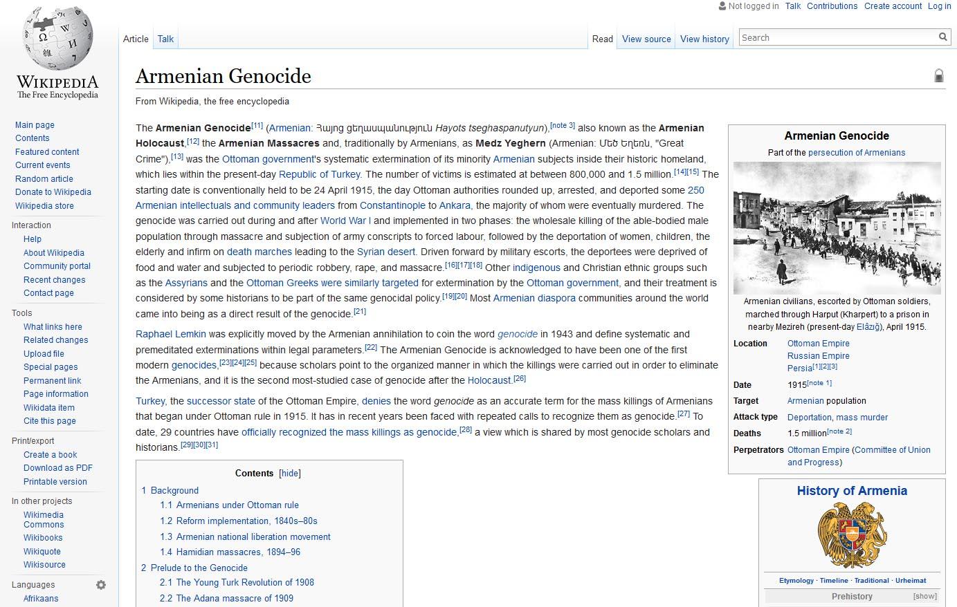 """Il genocidio armeno in rete: parole e immagini sul primo """"Olocausto"""" del '900"""