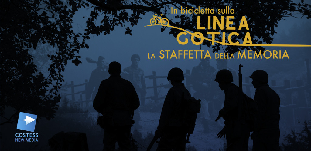 """Il logo del sito """"In bici sulla linea gotica"""" (www.inbiciclettasullalineagotica.it"""