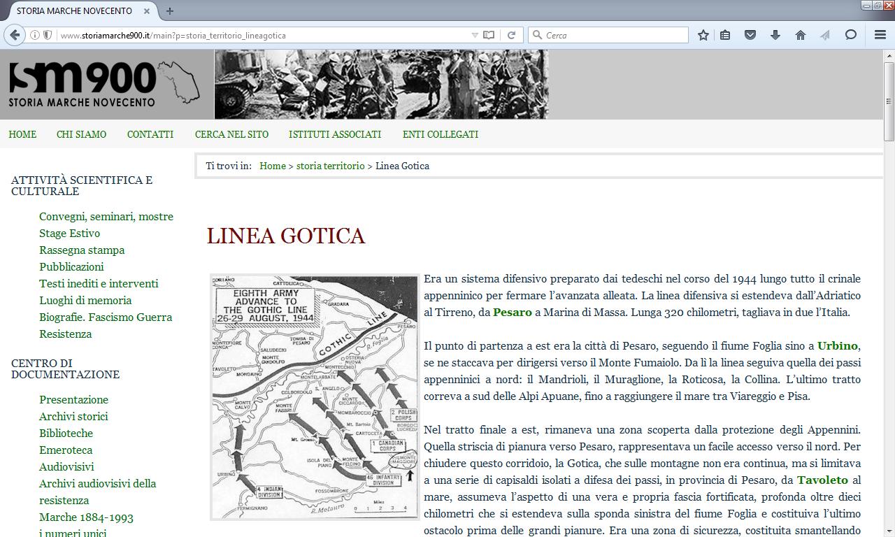 Le risorse online per la ricerca storica e didattica sulla Linea Gotica