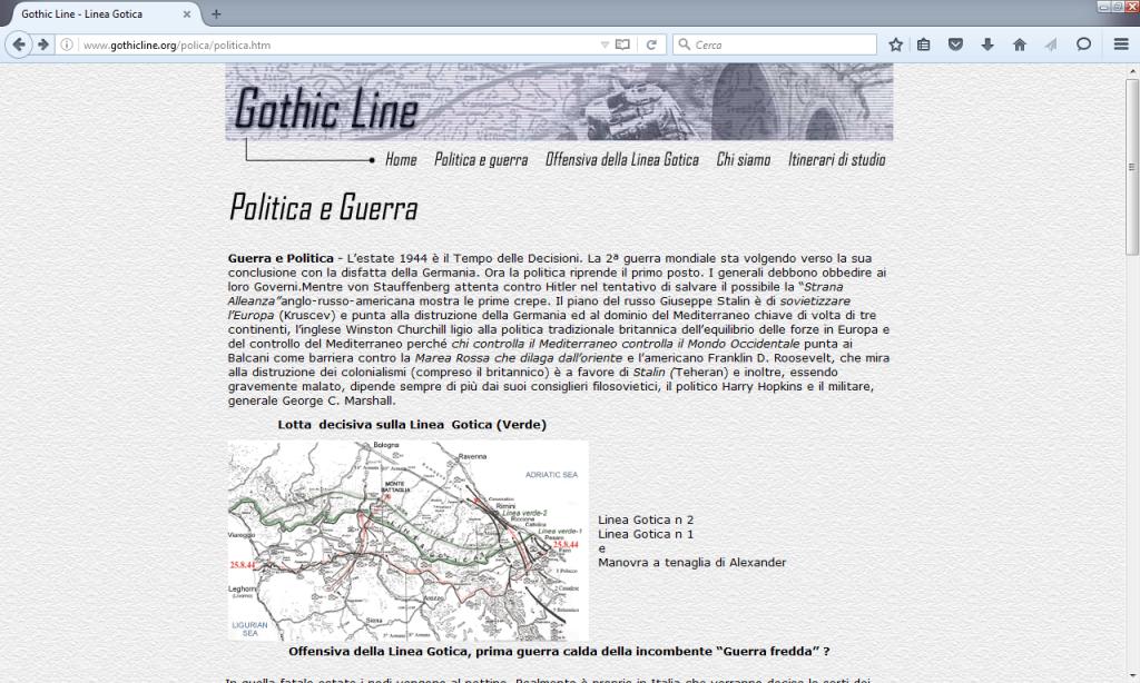 Fig. 5 - Politica e guerra da Gothic Line (http://www.gothicline.org/polica/politica.htm)