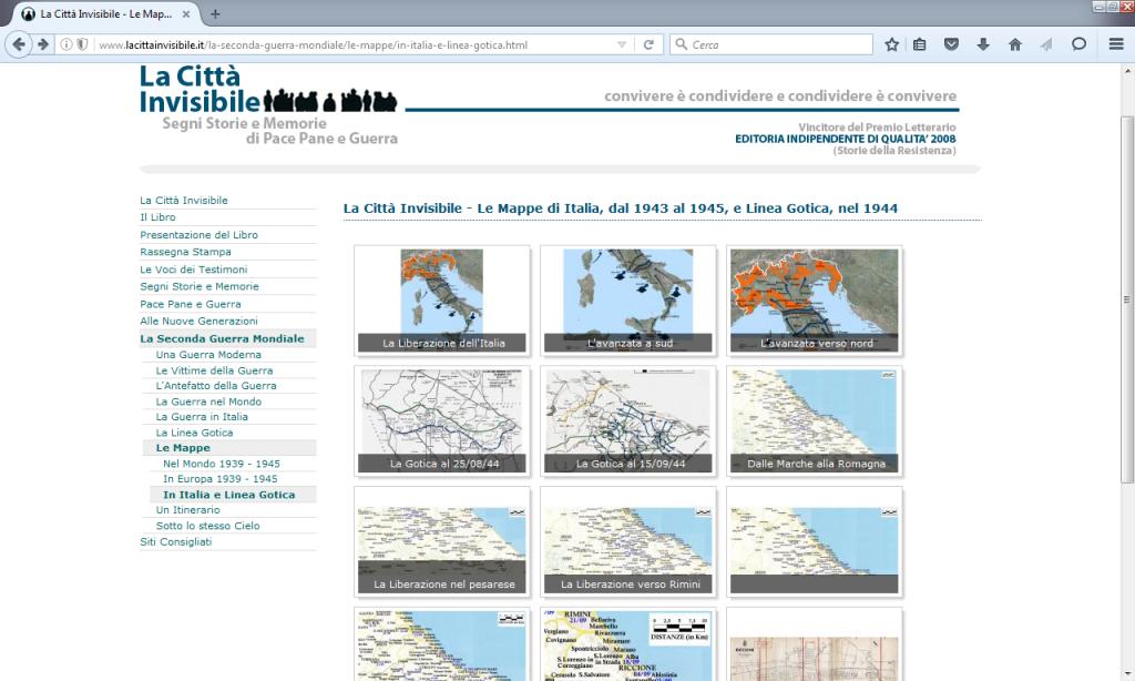 Fig. 7 - mappe della Linea Gotica in La città invisibile (http://www.lacittainvisibile.it/la-seconda-guerra-mondiale/le-mappe/in-italia-e-linea-gotica.html)