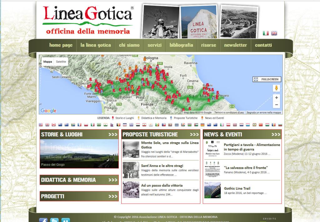"""Il sito """"Lineagorica.eu"""" (www.lineagotica.eu/"""