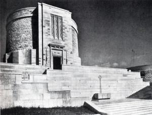 "Ghino Venturi, Ossario di Oslavia, 1930-1938. Da ""Rassegna di Architettura""."