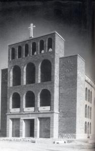 Tempio nazionale dei caduti e dispersi di Russia a Cargnacco di Pozzuolo del Friuli (Ud), 1949-1955. Archivio BCO.