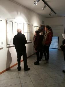 Franco Debenedetti Teglio alla mostra di Domodossola nel febbraio 2015