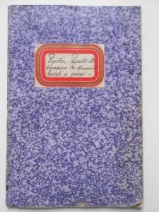 1.Registro raccolta sottoscrizioni pro monumento ai caduti in guerra, Viadana (Mn), copertina (ASC Viadana, b. 171, aut. n. 77/2016)