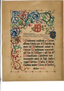 3.Offerta del contributo pro monumento ai caduti della Grande Guerra dei Mantovani residenti a Torino, ottobre 1924 (ASMn, sez. Novecentesca, Pg 2339/3963/1929, cat. VIII/8/2, 1929, aut. 12/2016)