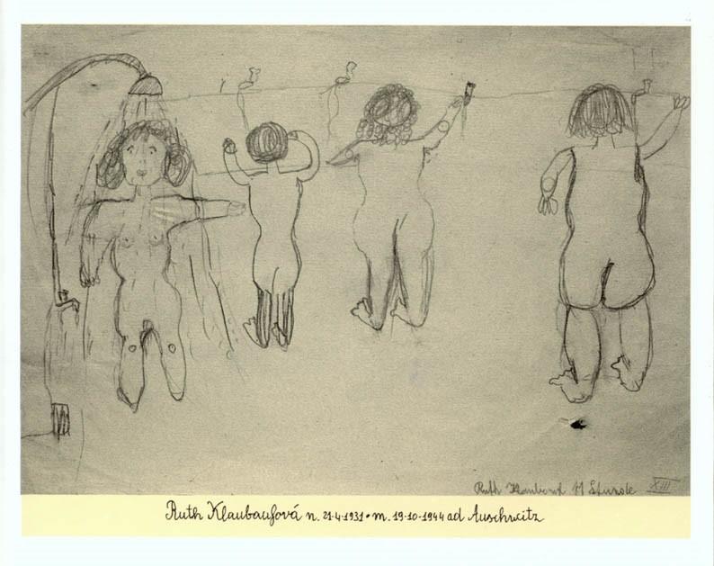 """Rappresentazione della """"vita"""" di Terezín ad opera della piccola Ruth (1931-1944)"""