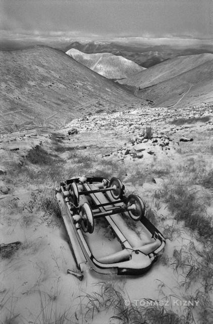Kolyma Resti delle miniere di stagno e uranio abbandonate nel massiccio montagnoso del Butugičak.