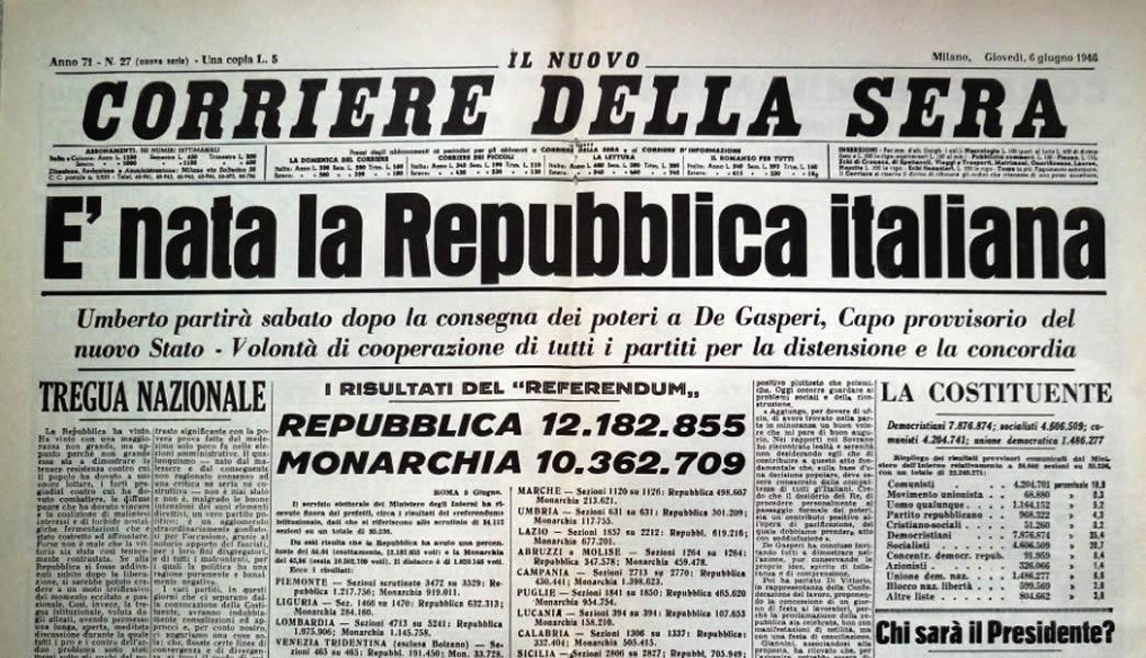 2 giugno, la nascita della Repubblica e la bella politica