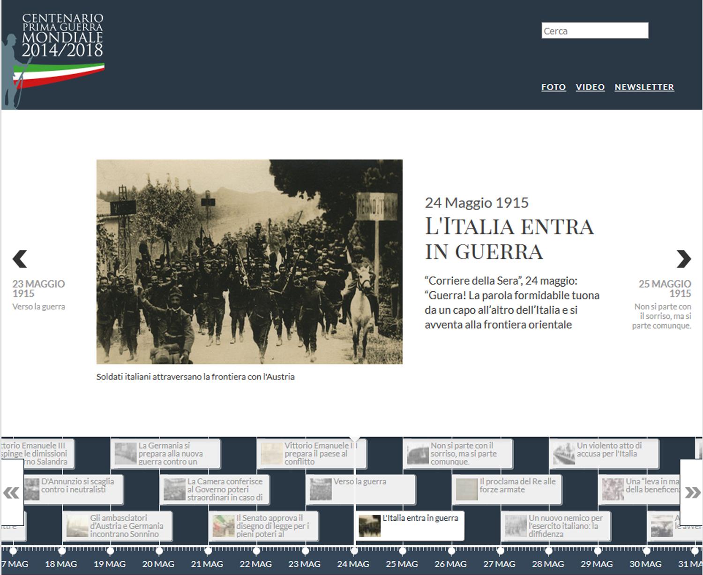 Grande_guerra.web, risorse in rete per l'nsegnamento della Prima guerra mondiale