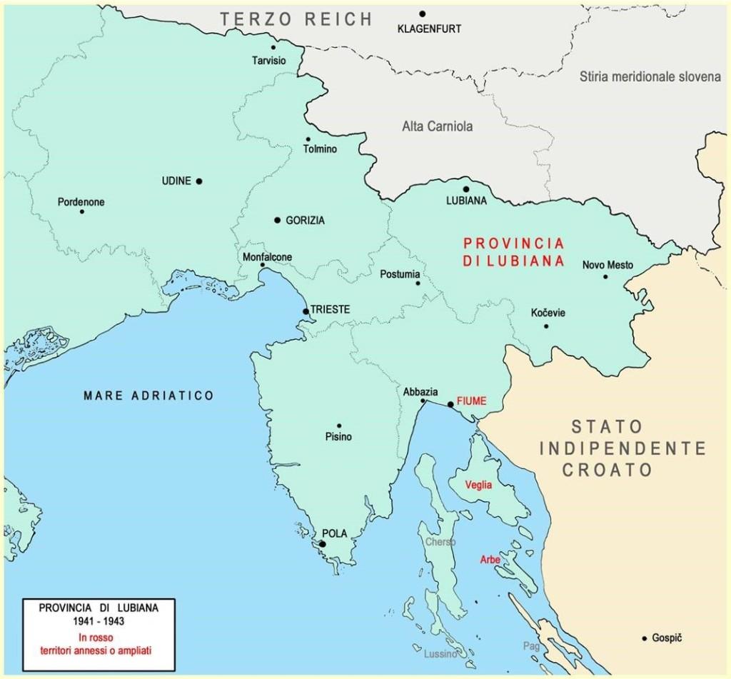 Fig.2 Il confine del Regno d'Italia dal 1941 al 1943