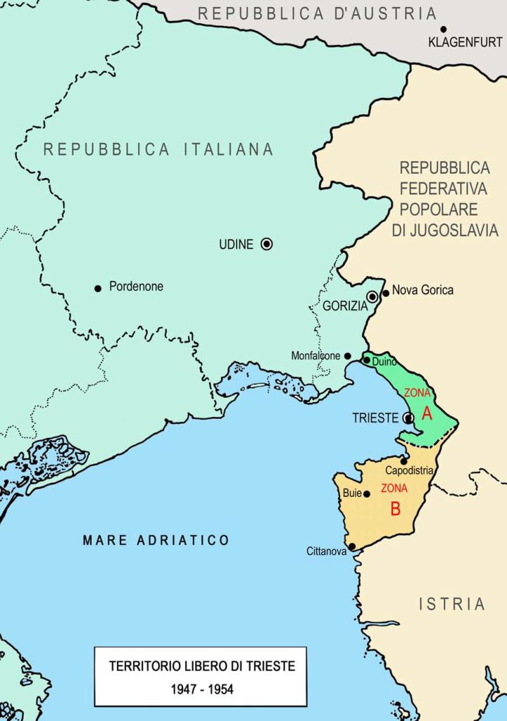 Figura 7. Territorio libero di Trieste 1947-1954