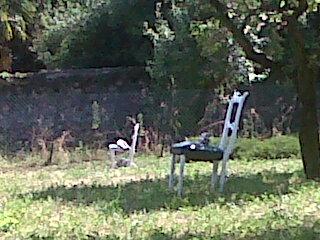 Meina, sedie nel parco villa Faraggiana