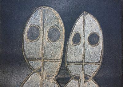 Uomini senza occhi (Studio per Museo Monumento al Deportato di Carpi)