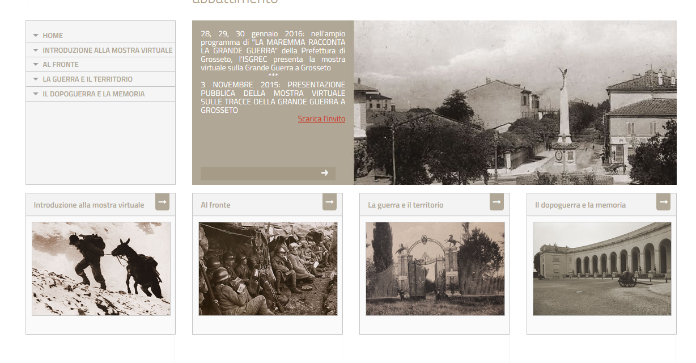 """""""Sulle tracce della Grande guerra a Grosseto"""". Una mostra virtuale per raccontare il fronte interno"""